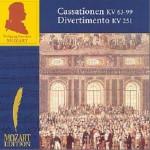 Volume 3(CD3) Cassationen KV 63-99, Divertimento KV 251